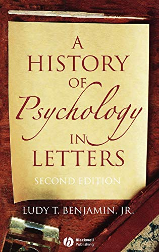 9781405126113: A History of Psychology in Letters