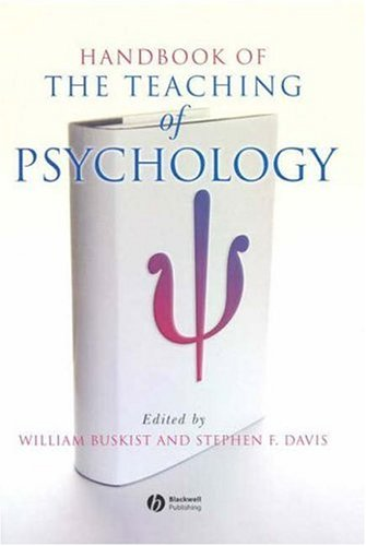 9781405132046: Handbook of the Teaching of Psychology