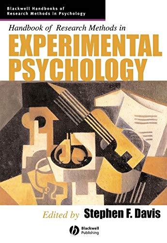 9781405132800: Handbook of Research Methods in Experimental Psychology