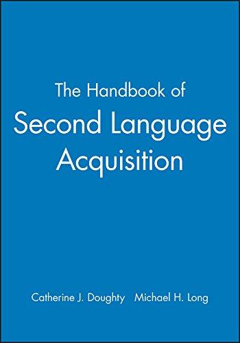 9781405132817: The Handbook of Second Language Acquisition (Blackwell Handbooks in Linguistics)