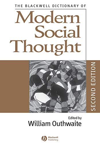 9781405134569: The Blackwell Dictionary of Modern Social Thought