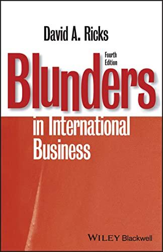 9781405134927: Blunders in International Business