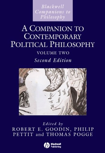 9781405136532: A Companion to Contemporary Political Philosophy (Blackwell Companions to Philosophy)