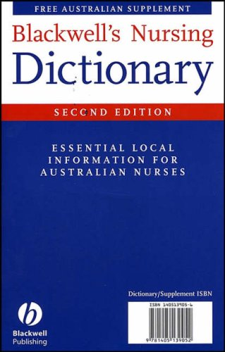 9781405139052: Blackwell's Nursing Dictionary: Plus Australian Supplement