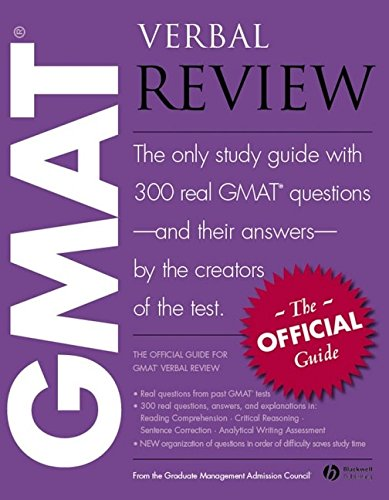 9781405141789: The Official Guide for GMAT(R) Verbal Review: the Official Guide : the Only Study Guide with 300 Real GMAT Questions - and Their Answers - by the Creators of the Test