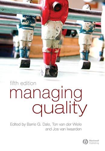 9781405142793: Managing Quality