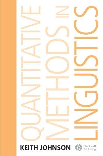 9781405144254: Quantitative Methods In Linguistics