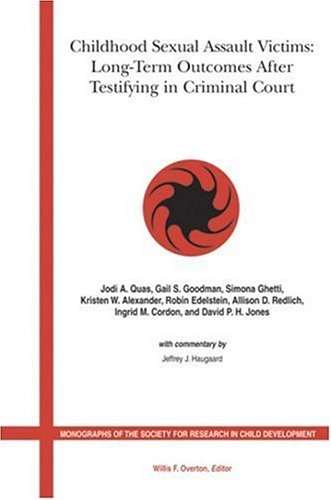 9781405147255: Childhood Sexual Assault Victims: Long Term Outcomes After Testifying in Criminal Court (Monographs of the Society for Research in Child Development)