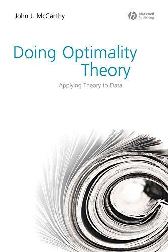 9781405151351: Doing Optimality Theory: Applying Theory to Data