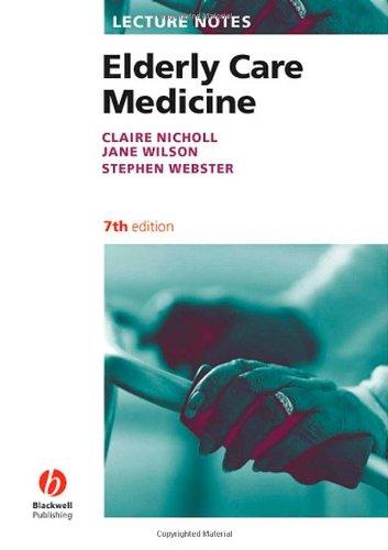 9781405157124: Lecture Notes: Elderly Care Medicine