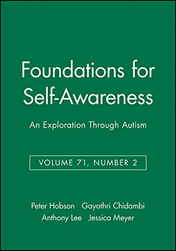 9781405167222: Foundations for Self-Awareness: An Exploration Through Autism (Monographs of the Society for Research in Child Development)