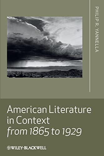 9781405167802: American Literature in Context from 1865 to 1929