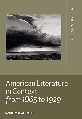 9781405167819: American Literature in Context from 1865 to 1929