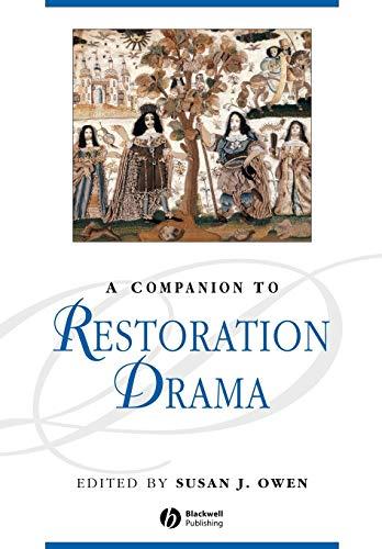 9781405176101: A Companion to Restoration Drama
