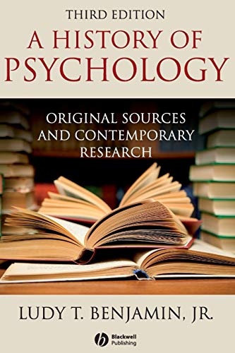 9781405177108: History of Psychology: Original Sources and Contemporary Research