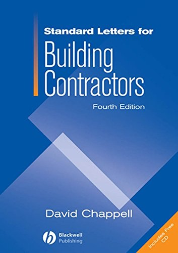 Standard Letters for Building Contractors (1405177896) by David Chappell