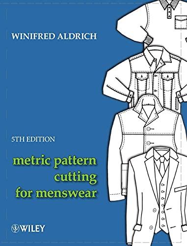 Metric Pattern Cutting for Menswear 5E (Hardback): Winifred Aldrich