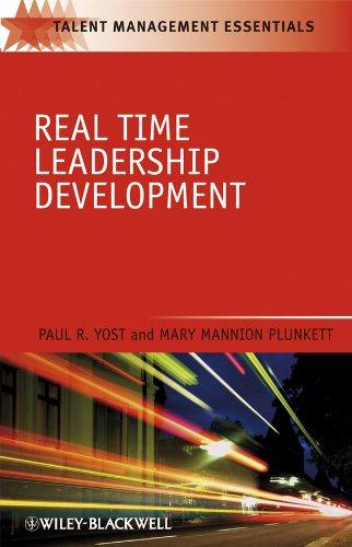 9781405186759: Real Time Leadership Development