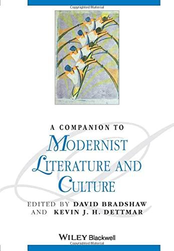 9781405188227: A Companion to Modernist Literature and Culture
