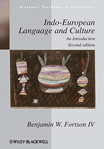 9781405188968: Indo-European Language and Culture: An Introduction