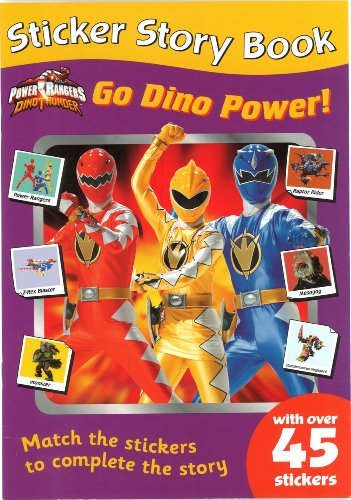 9781405219181: Power Rangers Go Dino Power! (Sticker Story Books)