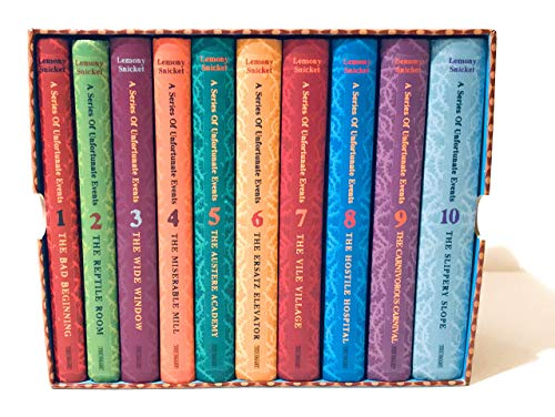 9781405222792: A series of Unfortunate events--books 1-10 (A series of unfortunate events) in slipcase, 11,12,13 separate. Complete set