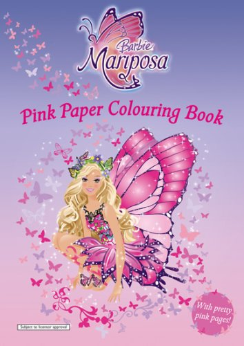 9781405238892: Barbie Mariposa: Pink Paper Colouring Book (Barbie Mariposa)
