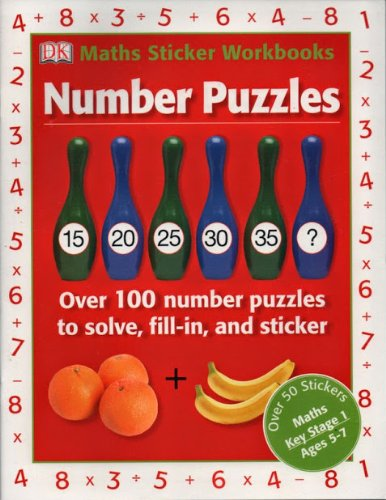 9781405375733: Number Puzzles Maths Key Stage 1 Ages 5-7 Maths Sticker Workbooks