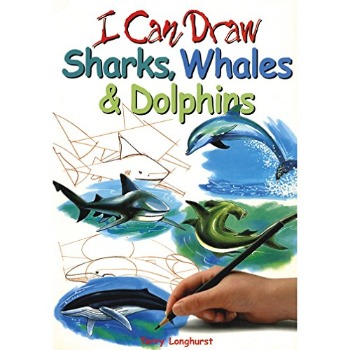 9781405400398: Sharks, Whales and Dolphins (I Can Draw)