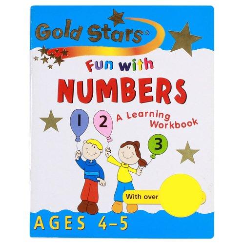 9781405446976: Fun with Numbers 4-5 (Gold Stars Fun Learning Workbooks)