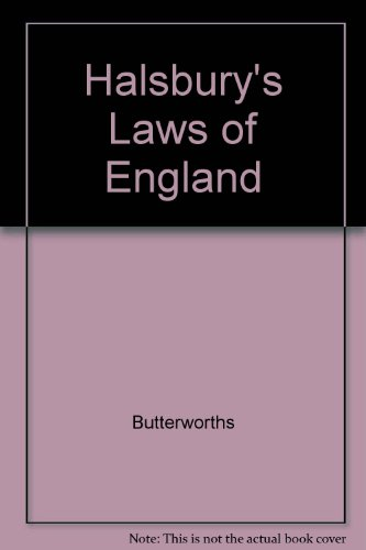 9781405701884: Halsbury's Laws of England, Fourth Edition, Reissue, Volume 30(1)