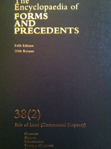 The encyclopedia of forms and precedents (fourth edition) 23.