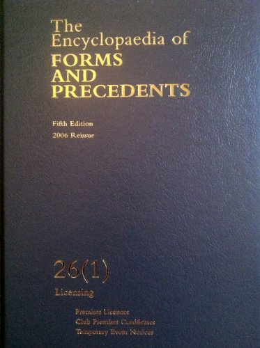The encyclopaedia of forms and precedents £95. 00 | picclick uk.