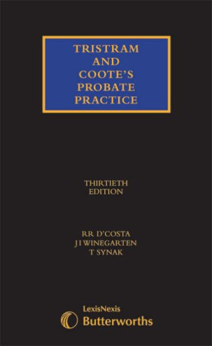 9781405709606: Tristram and Coote's Probate Practice