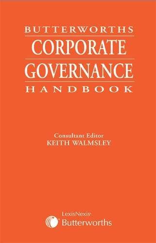 Butterworths Corporate Governance Handbook: Walmsley, Keith