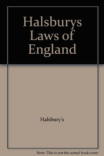 9781405716130: Halsburys Laws of England