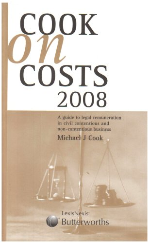 9781405725033: Cook on Costs