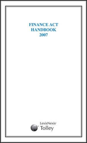Finance Act Handbook 2007
