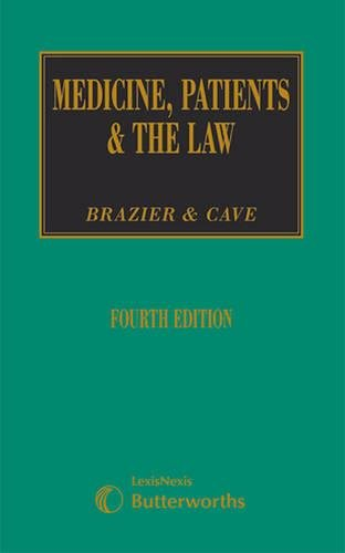 9781405726023: Medicine, Patients & the Law