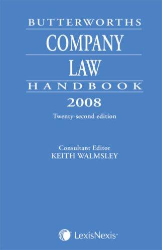 9781405728270: Butterworths Company Law Handbook