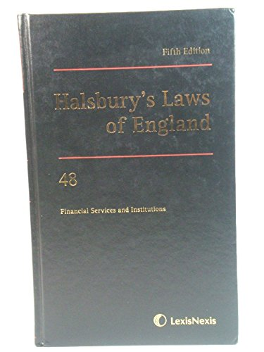 9781405734226: Halsbury's Laws of England, Fifth Edition, Volume 48: Financial Services and Institutions