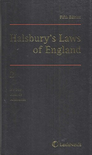 9781405734264: Halsbury's Laws of England, Fifth Edition, Volume 2: Air Law, Animals, Arbitration