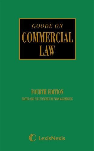 9781405734479: Goode: Commercial Law
