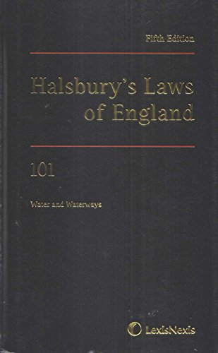 9781405738255: Halsbury's Laws of England, Volume 101: Water and Waterways