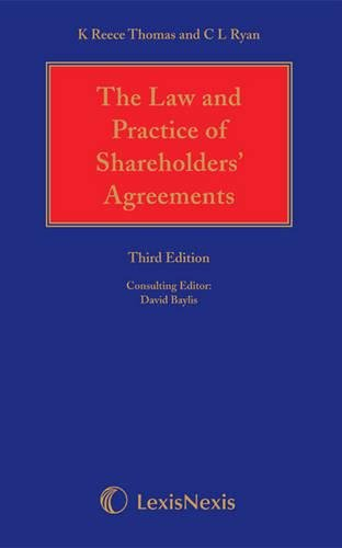 Reece Thomas and Ryan: The Law and Practice of Shareholders' Agreements (Book & CD): Ryan,...