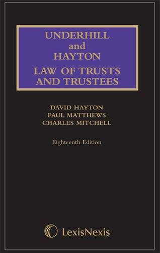9781405745222: Underhill and Hayton Law Relating to Trusts and Trustees.