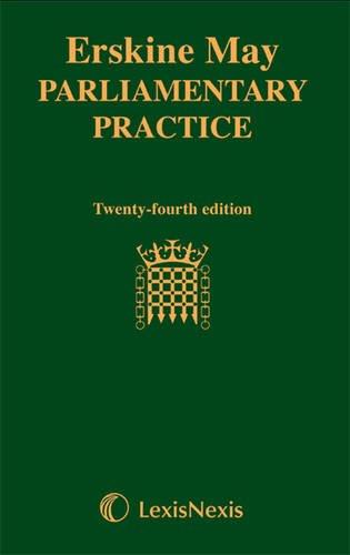 9781405751063: Erskine May: Parliamentary Practice