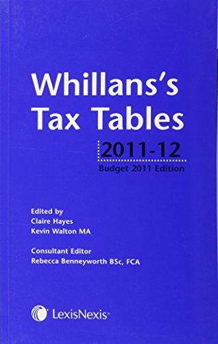 Whillans's Tax Tables (Budget Edition) (1405755911) by Walton, Kevin