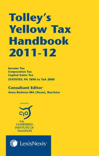 9781405757386: Tolley's Yellow Tax Handbook 2011-12 (Five Volume Set)