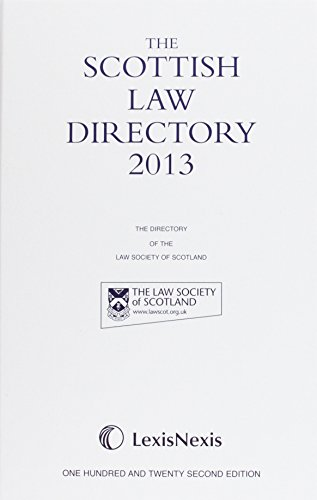 9781405778978: Scottish Law Directory White Book 2013 (122nd Edition)